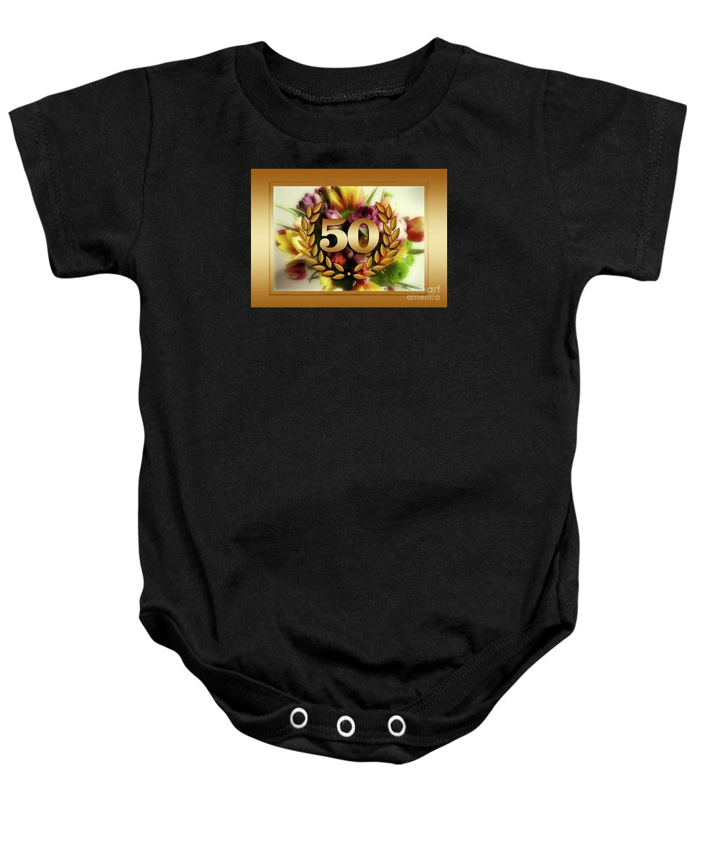 Witchcraft Baby Onesie featuring the digital art 50th Anniversary by Frederick Holiday