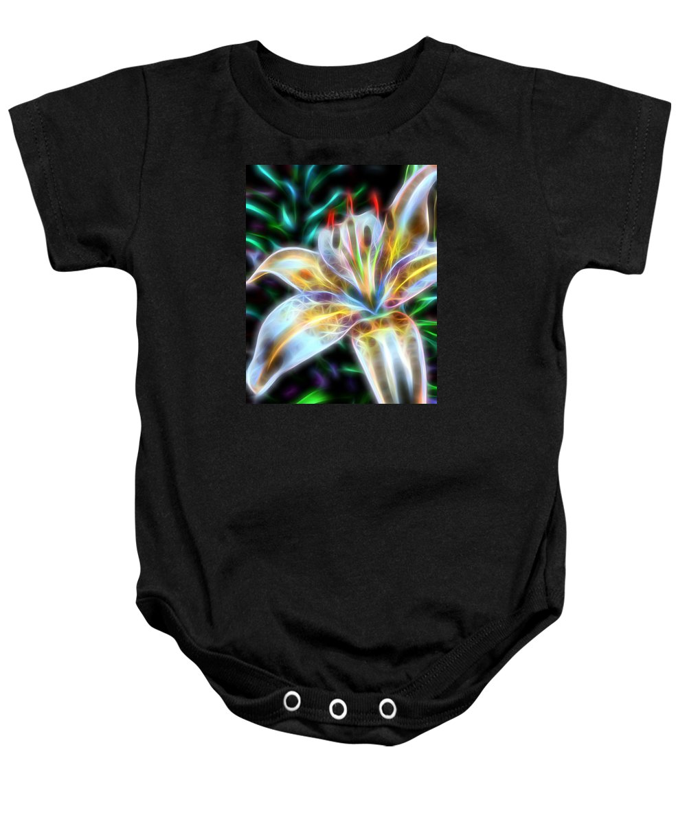 Flowers Baby Onesie featuring the photograph Lily by Michele Caporaso