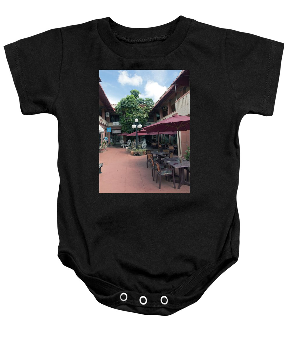 Cocoa Baby Onesie featuring the photograph Cocoa Village In Florida by Allan Hughes