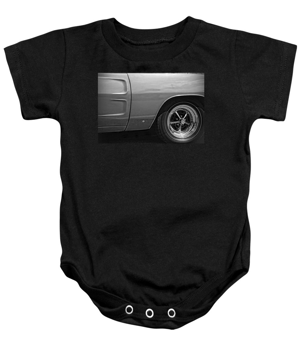 1968 Baby Onesie featuring the photograph '68 Charger by Gordon Dean II