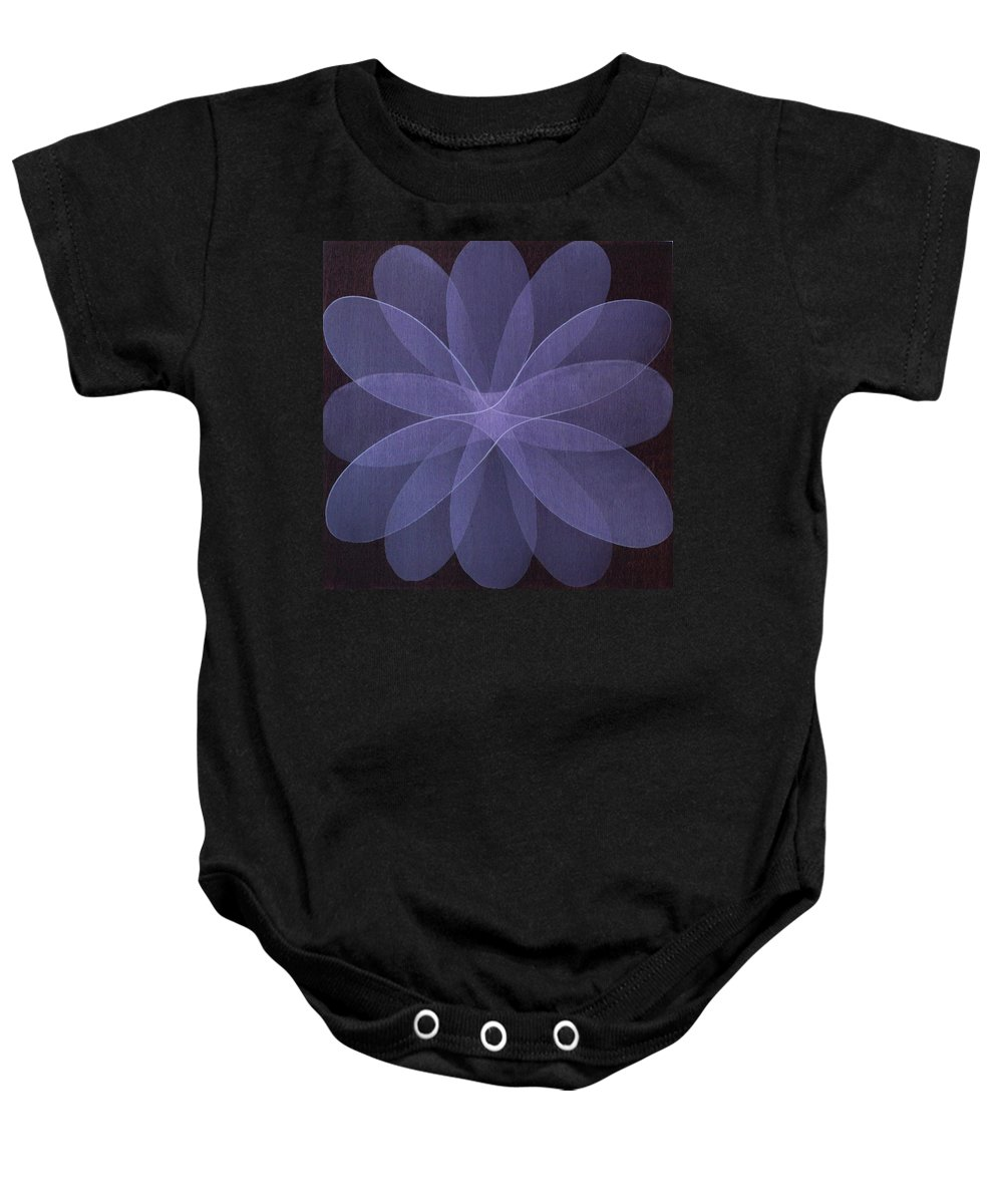 Abstract Baby Onesie featuring the painting Abstract flower by Jitka Anlaufova