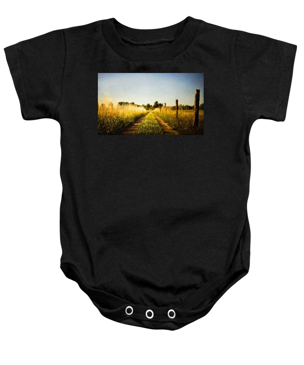 Landscape Baby Onesie featuring the painting A Landscape Nature by World Map
