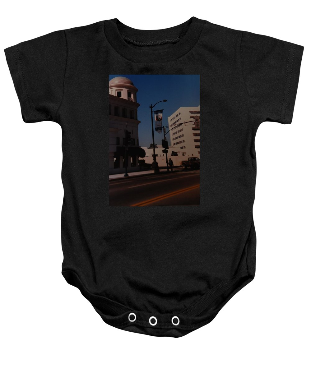 Hollywood California Baby Onesie featuring the photograph 75th Hollywood by Rob Hans