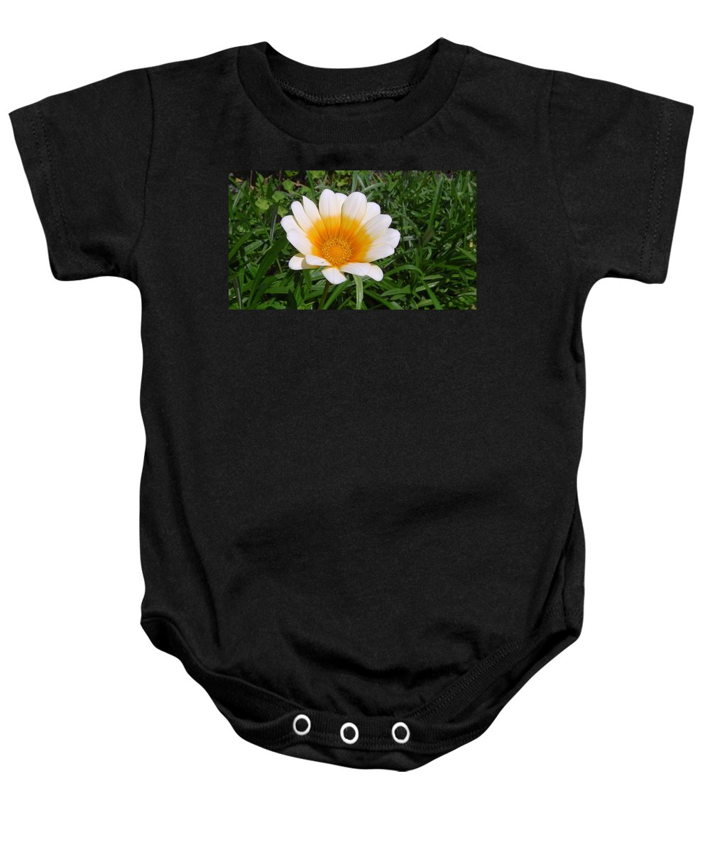 Australia Baby Onesie featuring the photograph Australia - White Yellow Daisy Flower by Jeffrey Shaw