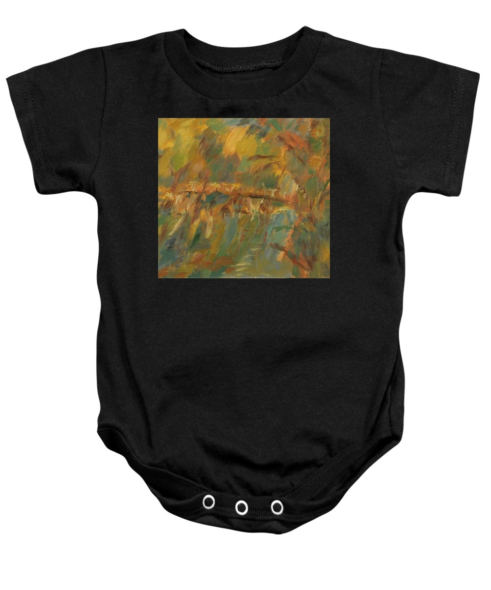 River Baby Onesie featuring the painting River by Robert Nizamov
