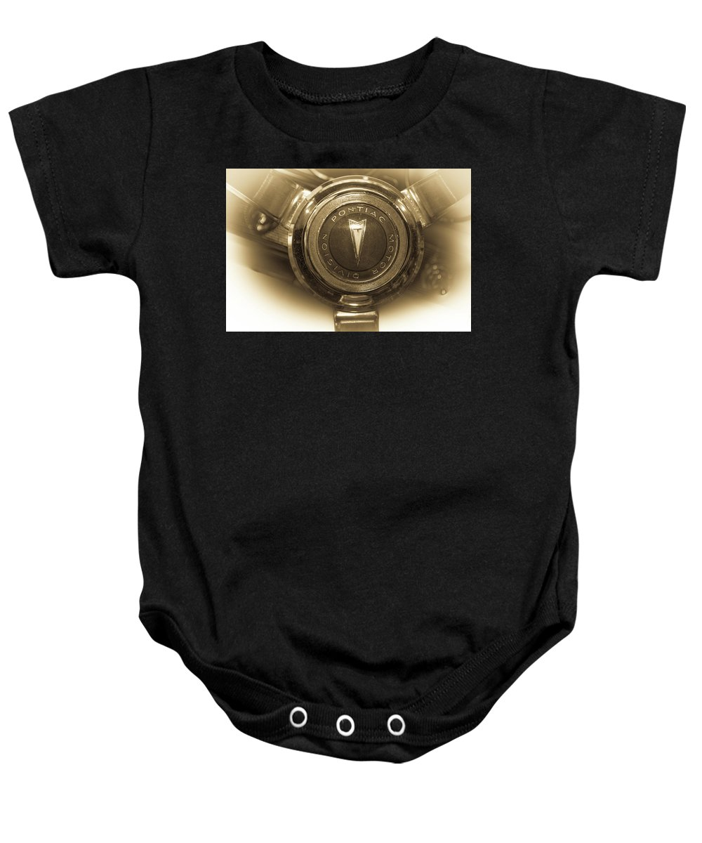 Classic Baby Onesie featuring the photograph Classic Cars by Mickie Bettez