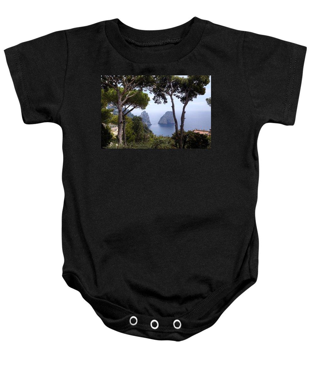 Faraglioni Baby Onesie featuring the photograph Faraglioni - Capri by Joana Kruse
