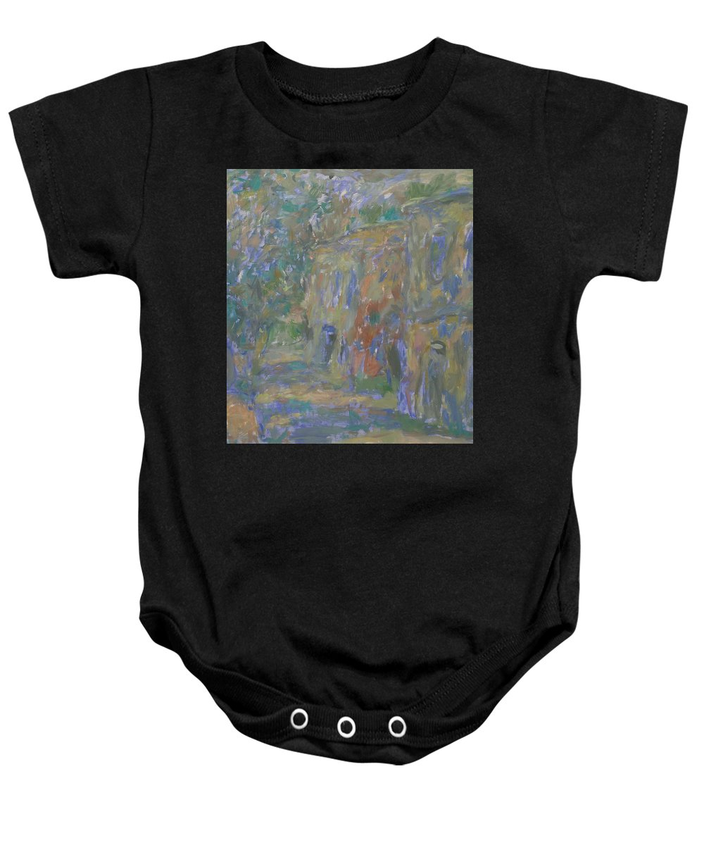Street Baby Onesie featuring the painting Landscape by Robert Nizamov