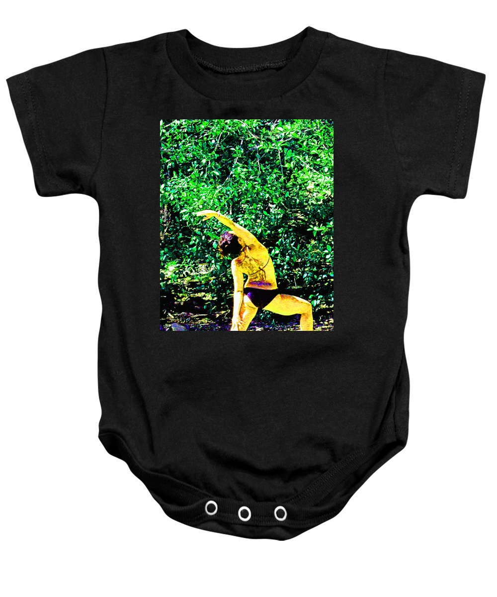 Yoga Baby Onesie featuring the digital art A Breath - Still - In The Moment by Joseph Coulombe