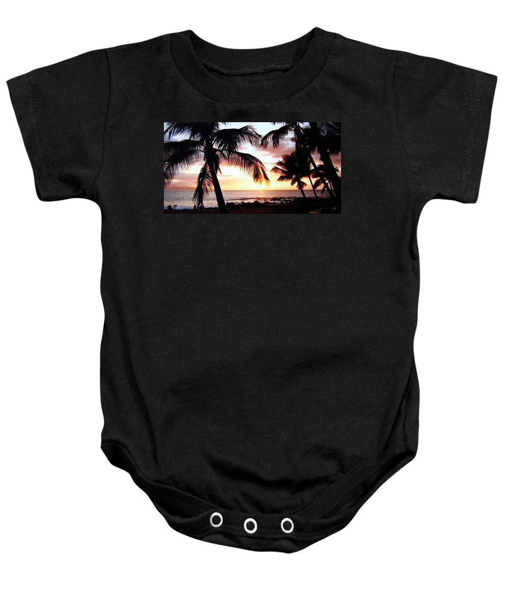 1986 Baby Onesie featuring the photograph A Couple On The Shore by Will Borden