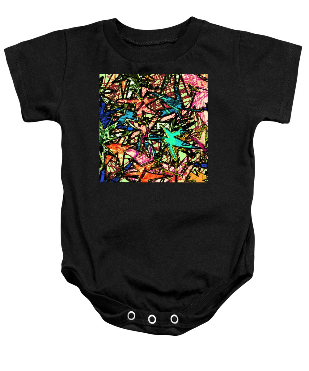 Abstract Baby Onesie featuring the digital art A Dream Shattered by Rachel Christine Nowicki