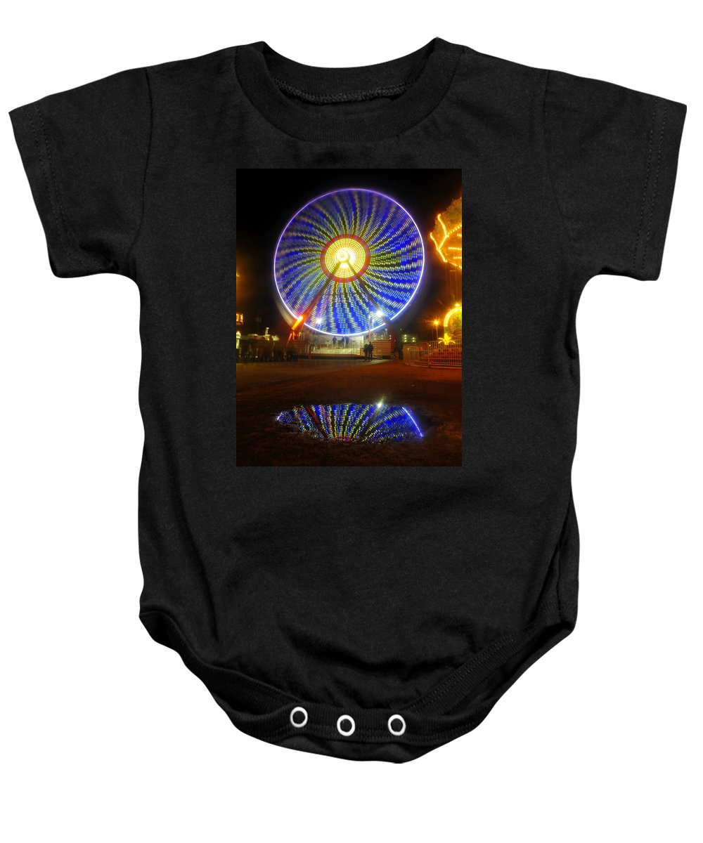 Florida State Fair Baby Onesie featuring the photograph A Fair Reflection by David Lee Thompson