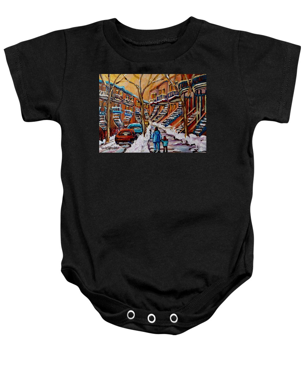 Montreal Baby Onesie featuring the painting A Glorious Day by Carole Spandau