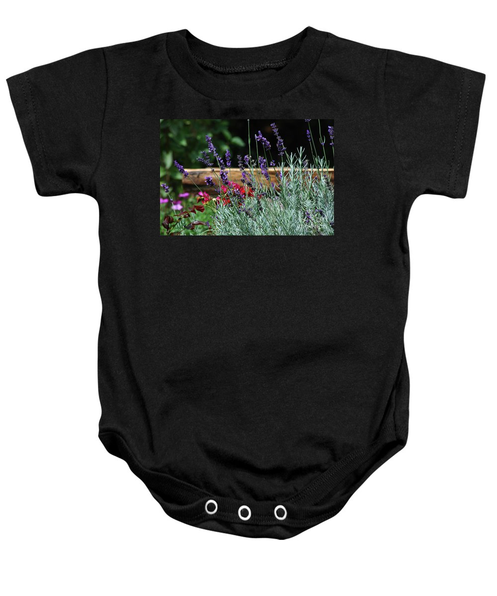 Lavender Baby Onesie featuring the photograph A Little Lavender by Lori Tambakis