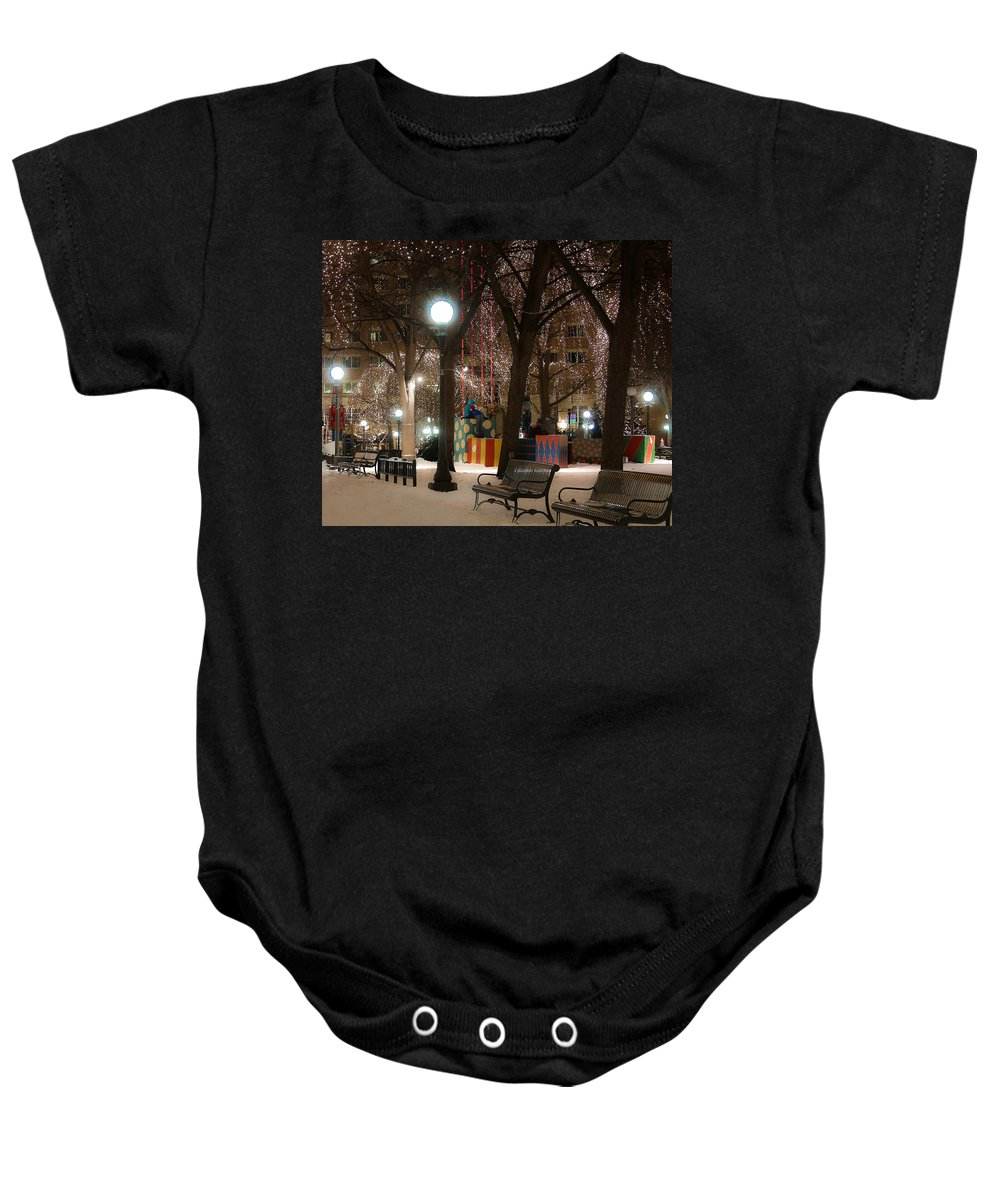Park Baby Onesie featuring the photograph A Little Loveliness by Melinda Martin