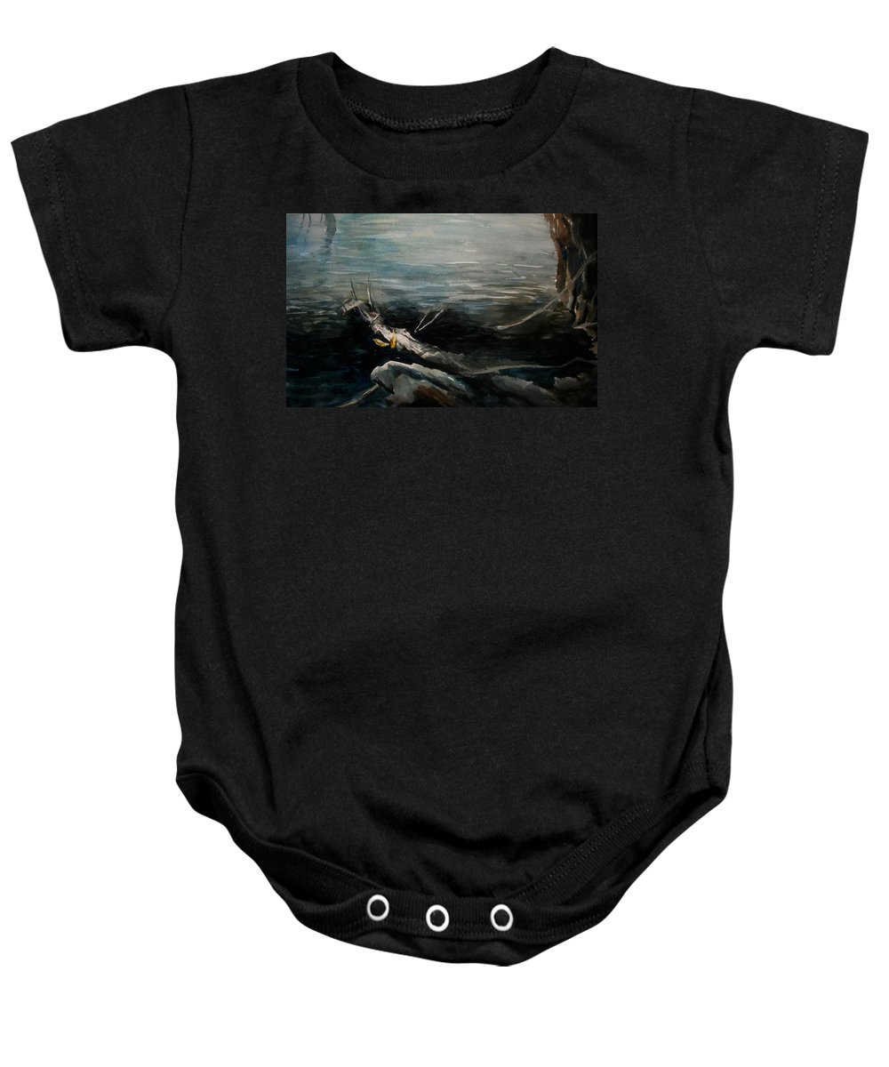 Landscape Baby Onesie featuring the painting A Moment In Time by Rachel Christine Nowicki