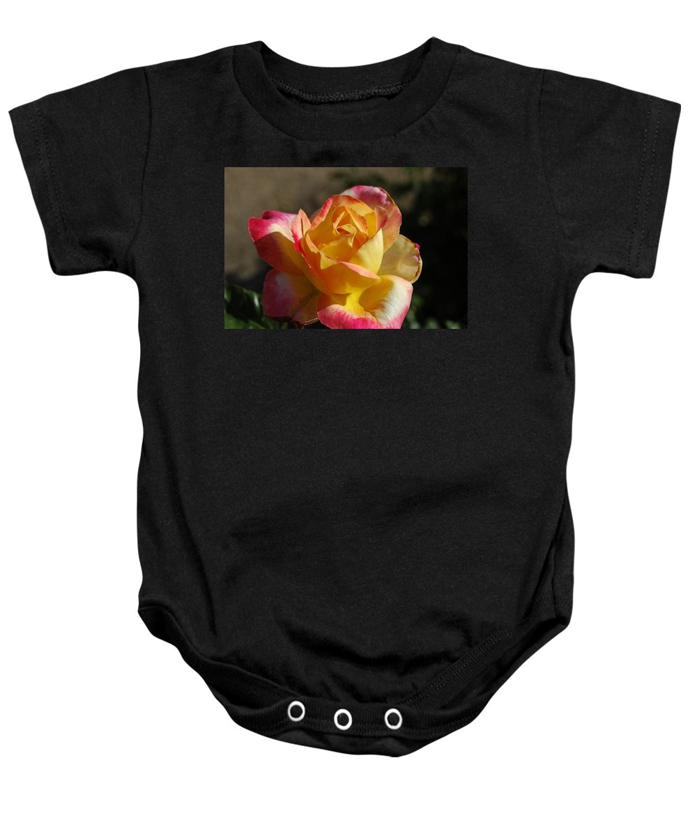 Red Baby Onesie featuring the photograph A Natural Beauty by Teresa Stallings