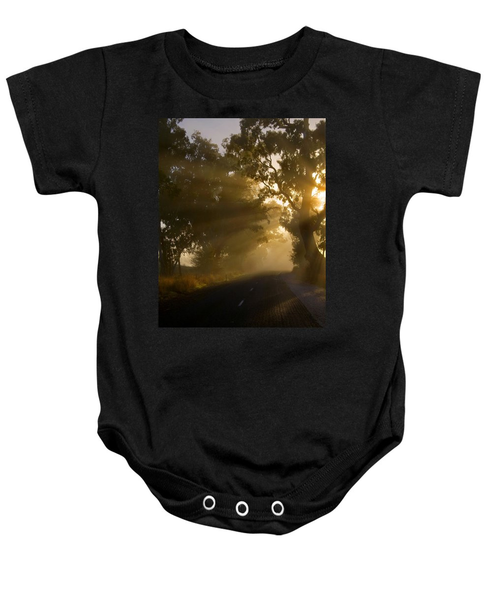 Highway Baby Onesie featuring the photograph A Road Less Traveled by Mike Dawson