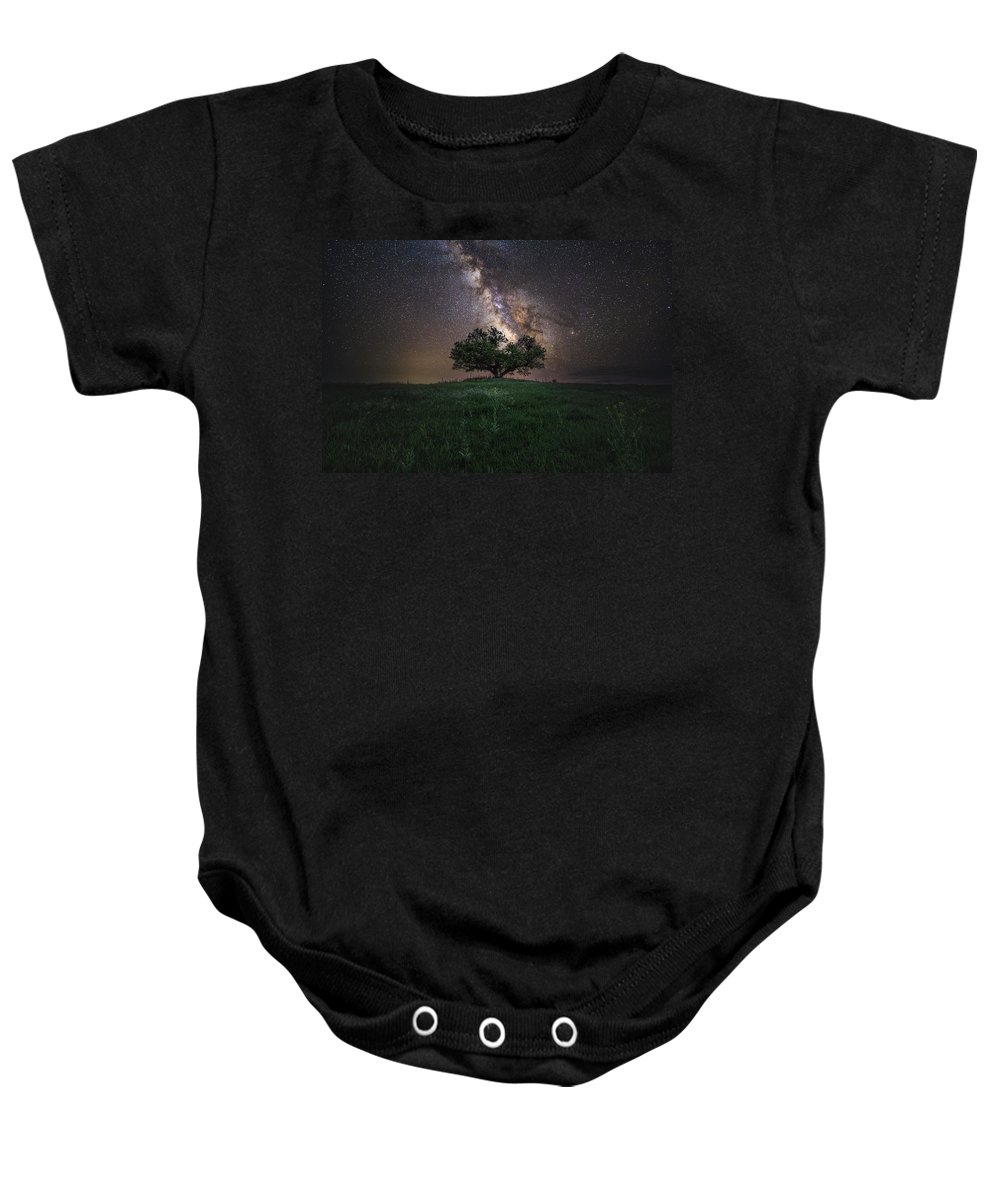 Milky Way Baby Onesie featuring the photograph A Sky Full Of Stars by Aaron J Groen