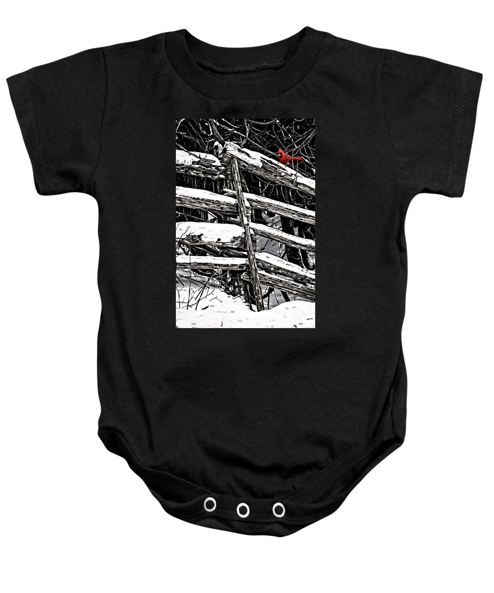 Winter Baby Onesie featuring the photograph A Splash Of Color by Steve Harrington
