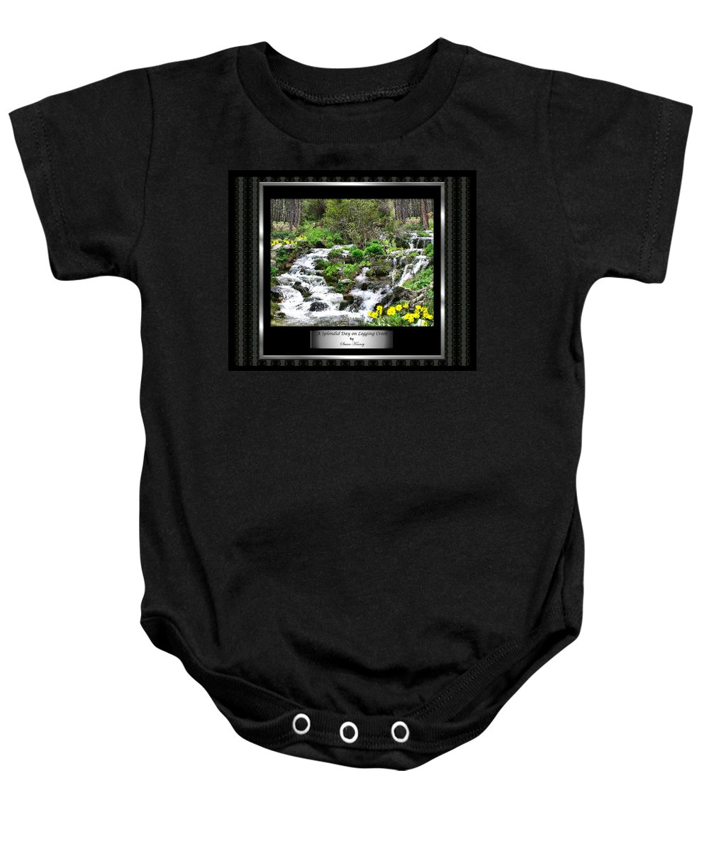 Photography/photo Collage Baby Onesie featuring the photograph A Splendid Day On Logging Creek by Susan Kinney
