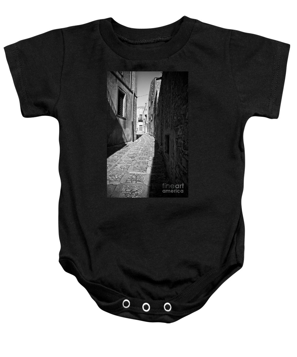 Street Baby Onesie featuring the photograph A Street In Sicily by Madeline Ellis