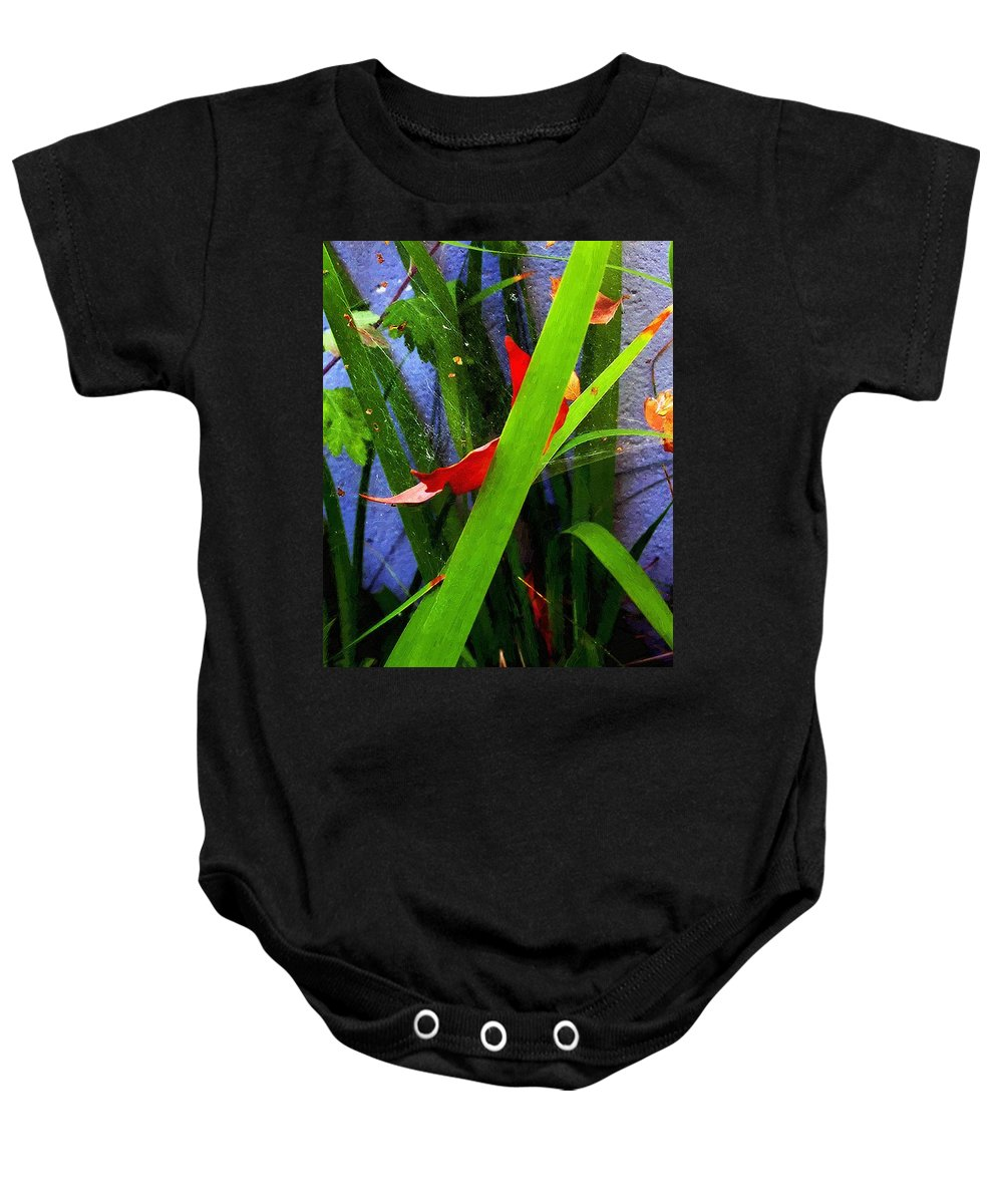 Autumn Baby Onesie featuring the painting A Tangled Web by RC DeWinter