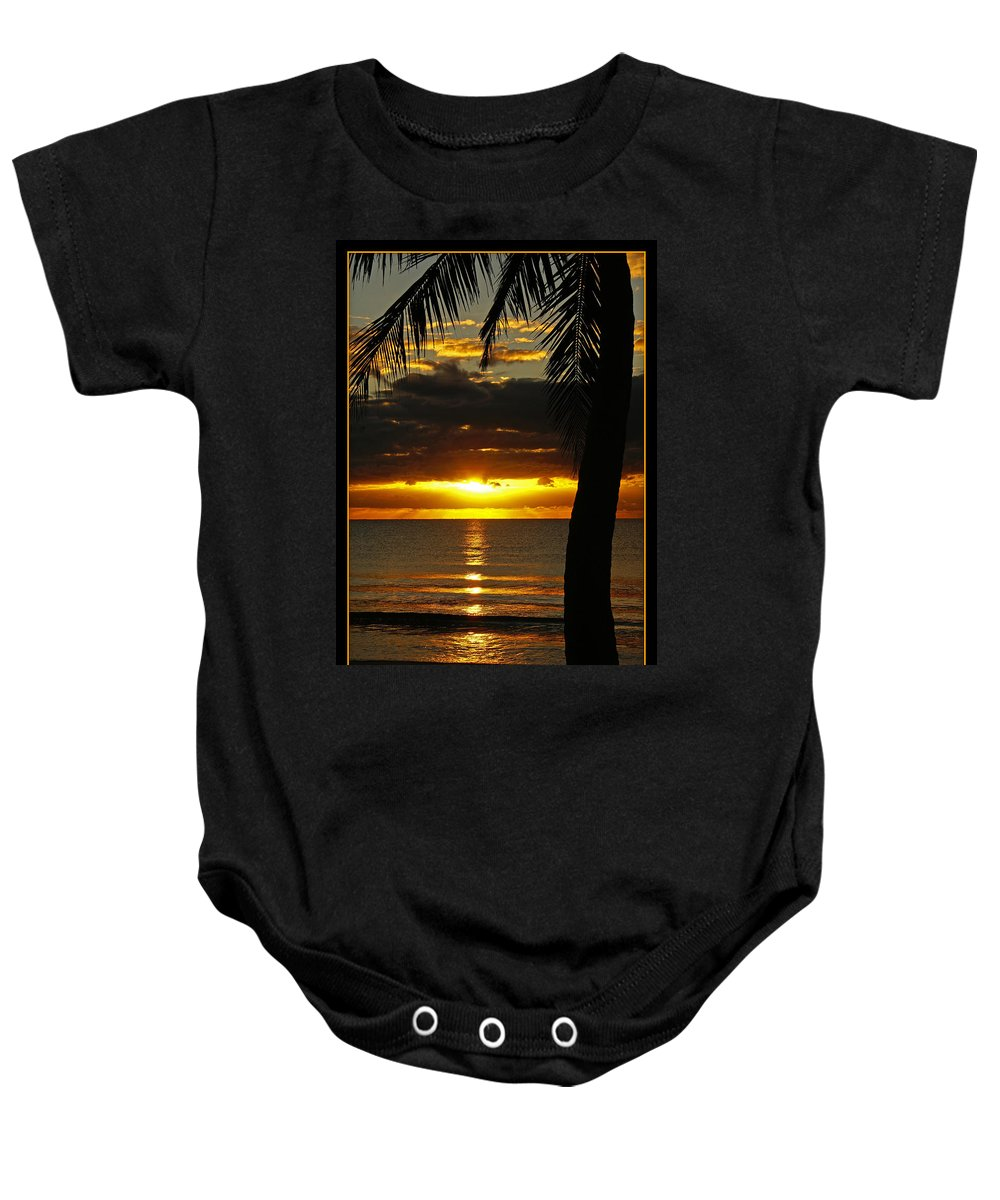 Landscape Baby Onesie featuring the photograph A Touch Of Paradise by Holly Kempe