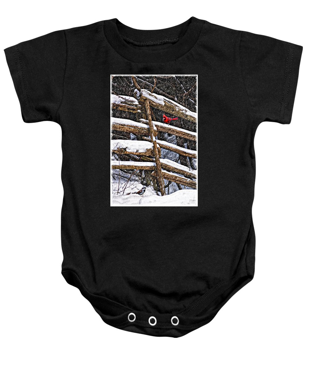 Winter Baby Onesie featuring the photograph A Winter Moment by Steve Harrington