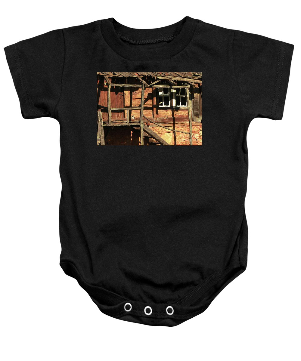 Home Baby Onesie featuring the photograph Abandoned Home by Christo Christov