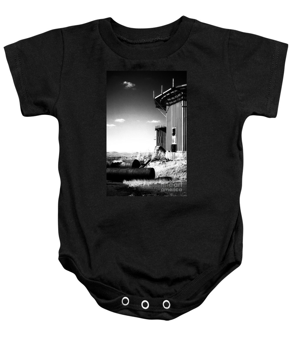 Abandoned Baby Onesie featuring the photograph Abandoned Radar by Richard Rizzo