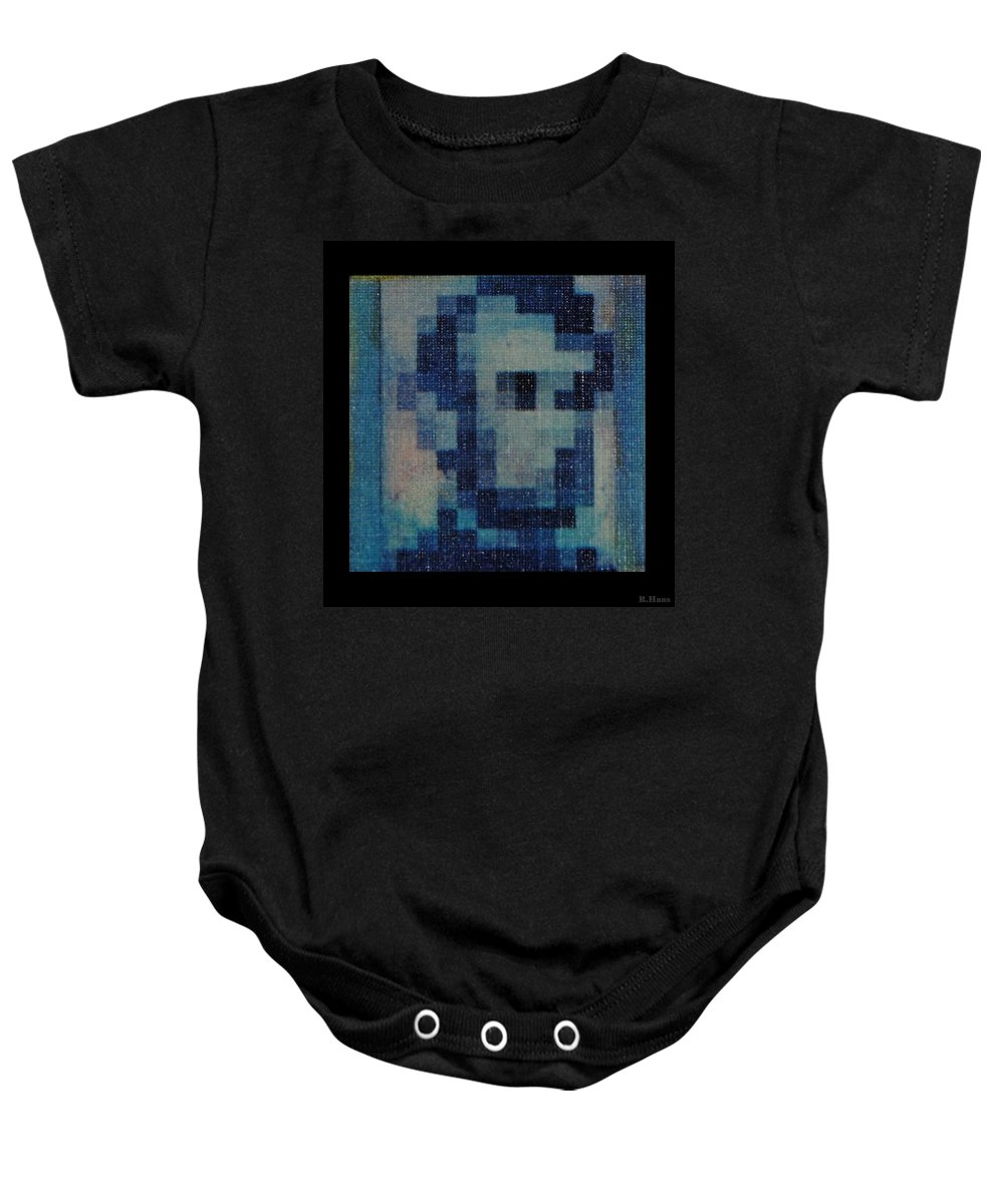 Blue Baby Onesie featuring the photograph Abe In Light Blue by Rob Hans