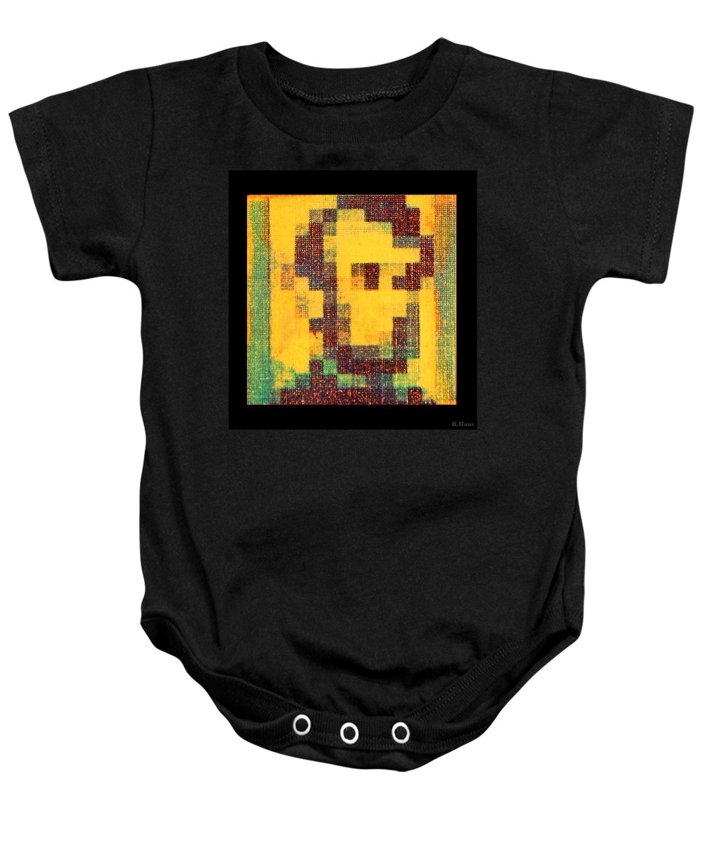 Yellow Baby Onesie featuring the photograph Abe In Yellow by Rob Hans