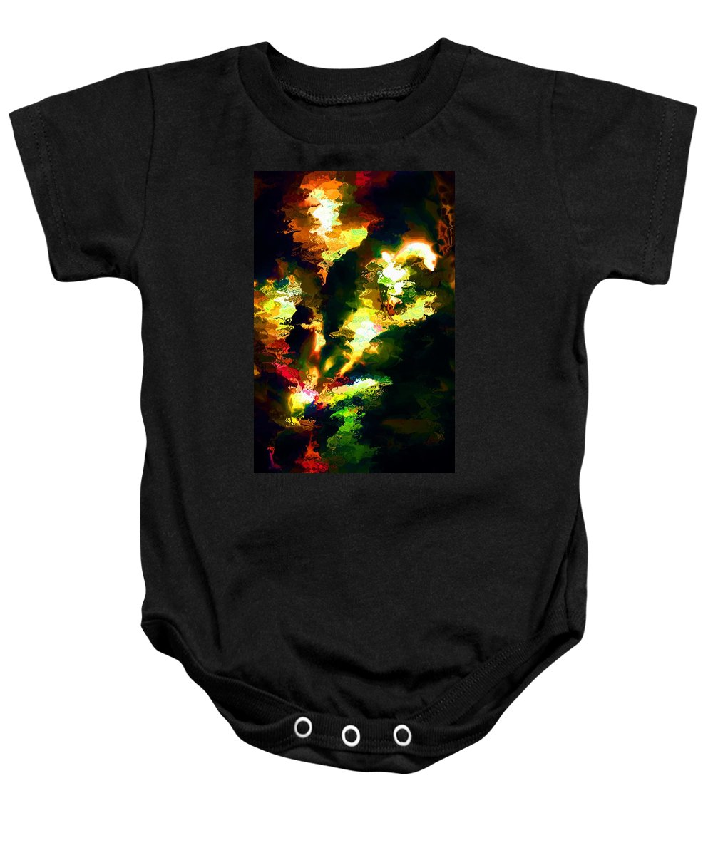 Fine Art Baby Onesie featuring the digital art Abstract 032311 by David Lane
