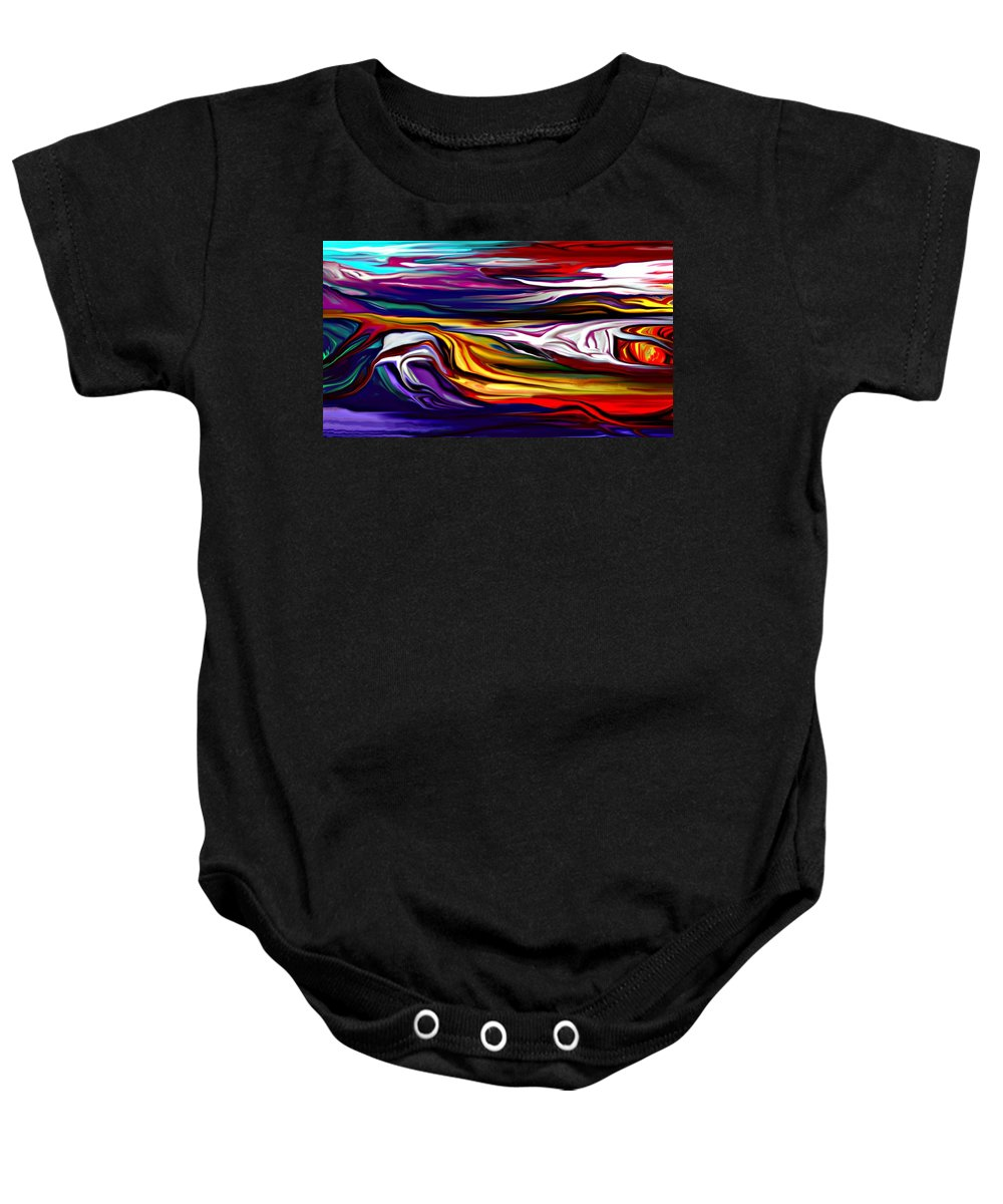 Abstract Baby Onesie featuring the digital art Abstract 06-12-09 by David Lane