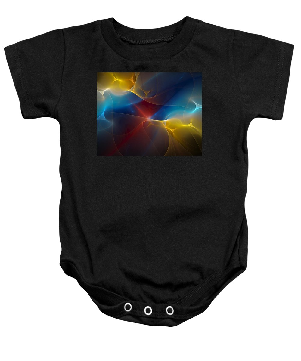 Digital Painting Baby Onesie featuring the digital art Abstract 060410 by David Lane