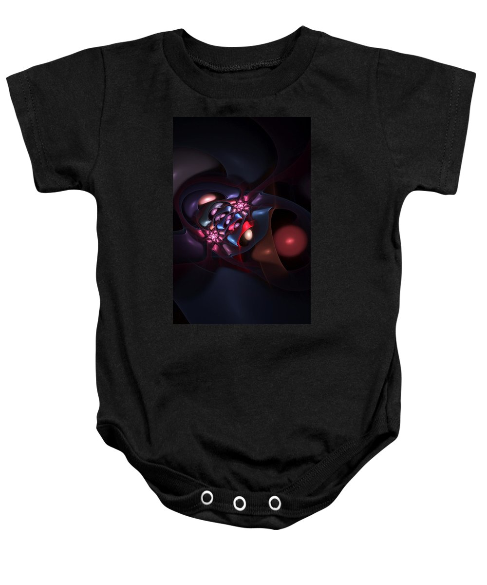 Fine Art Baby Onesie featuring the digital art Abstract 060910b by David Lane
