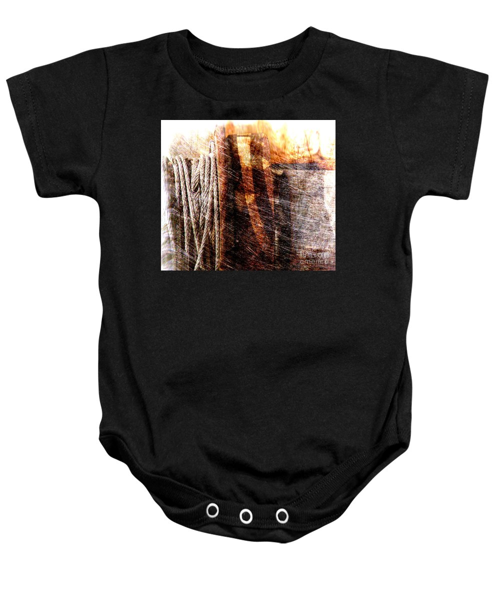 Rust Baby Onesie featuring the photograph Abstract 1 by Susanne Van Hulst