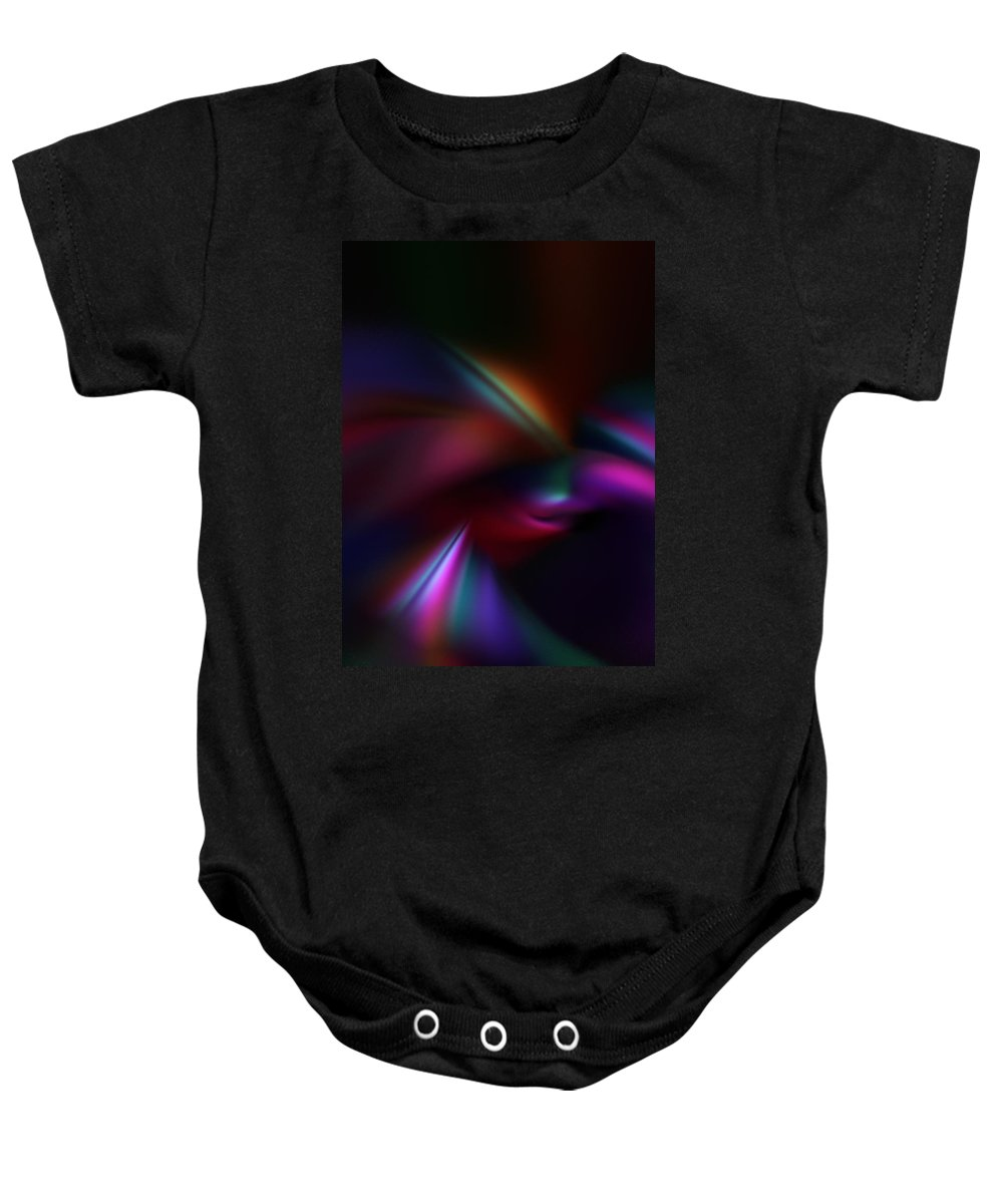 Abstract Digital Painting Baby Onesie featuring the digital art Abstract 11-08-09 by David Lane