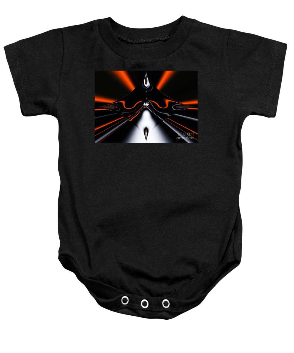 Abstract Baby Onesie featuring the digital art Abstract 4-22-09 by David Lane