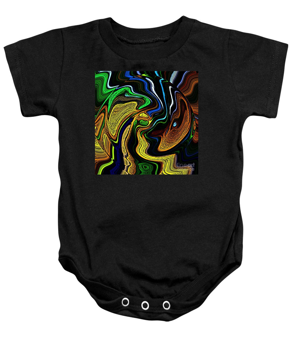 Abstract Baby Onesie featuring the digital art Abstract 6-10-09-a by David Lane