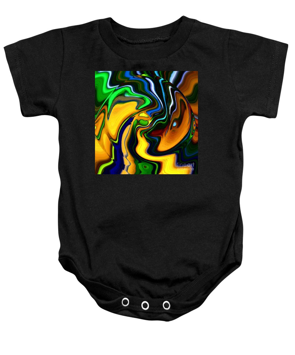 Abstract Baby Onesie featuring the digital art Abstract 7-10-09 by David Lane