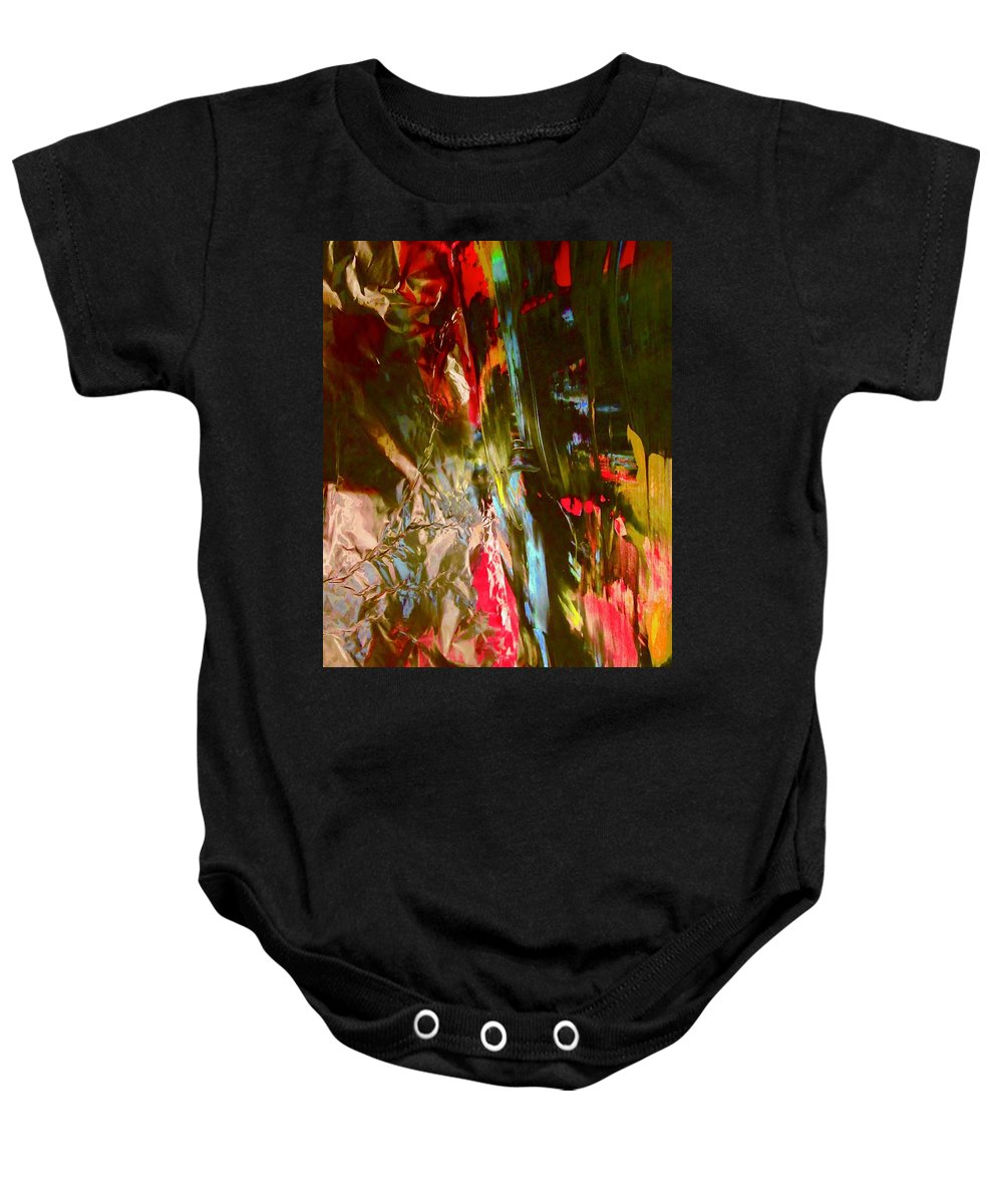 Red Baby Onesie featuring the photograph Abstract 9000 by Stephanie Moore