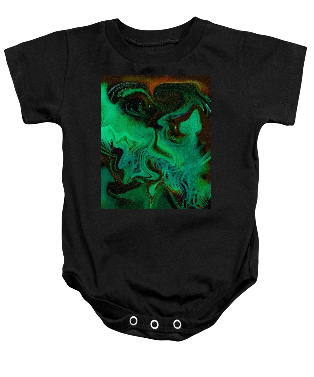 Abstract Design Baby Onesie featuring the digital art Digital Picture Abstract Bq166 by Oleg Trifonov