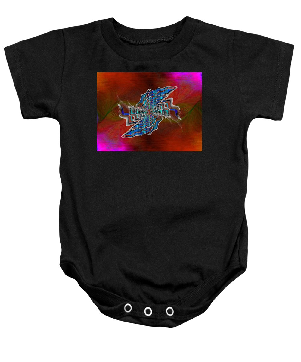 Abstract Baby Onesie featuring the digital art Abstract Cubed 271 by Tim Allen