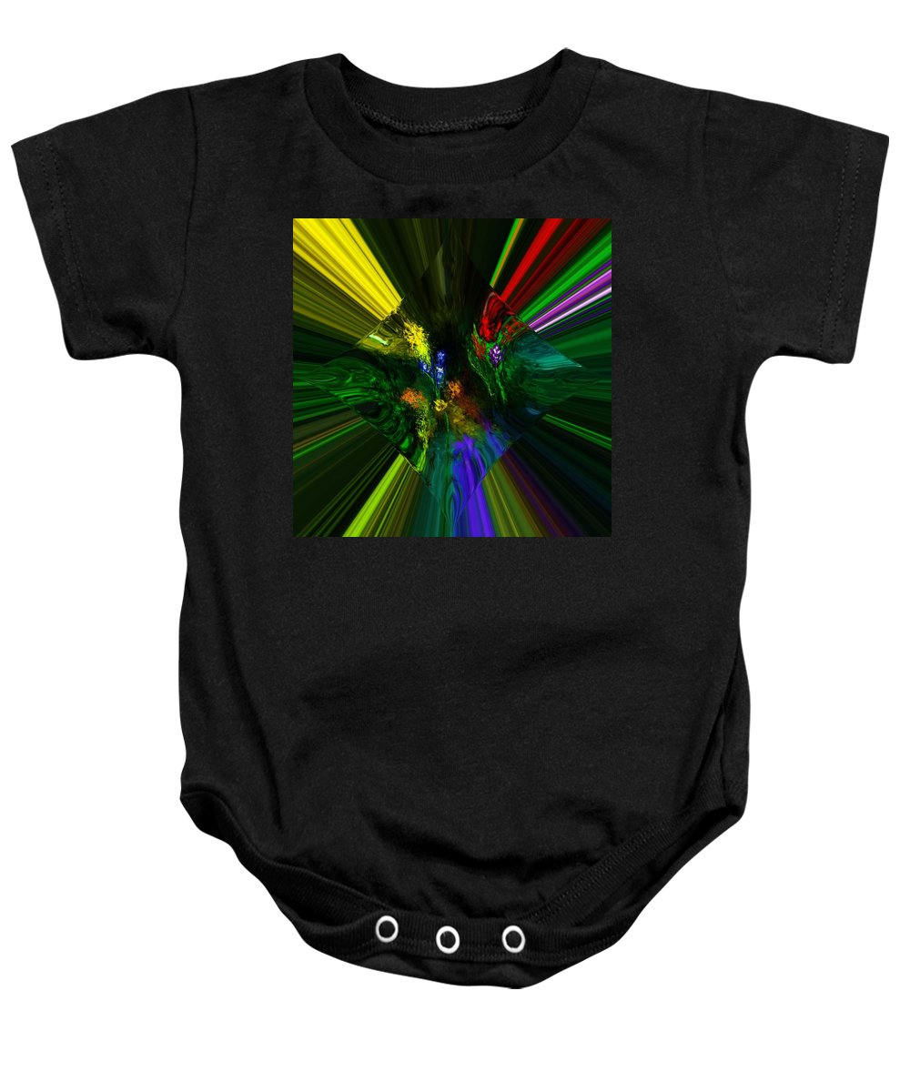 Digital Painting Baby Onesie featuring the digital art Abstract Garden by David Lane
