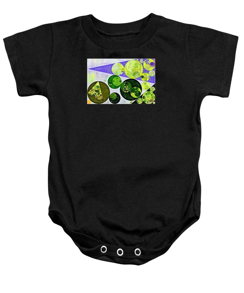 Decorative Baby Onesie featuring the digital art Abstract Painting - June Bud by Vitaliy Gladkiy
