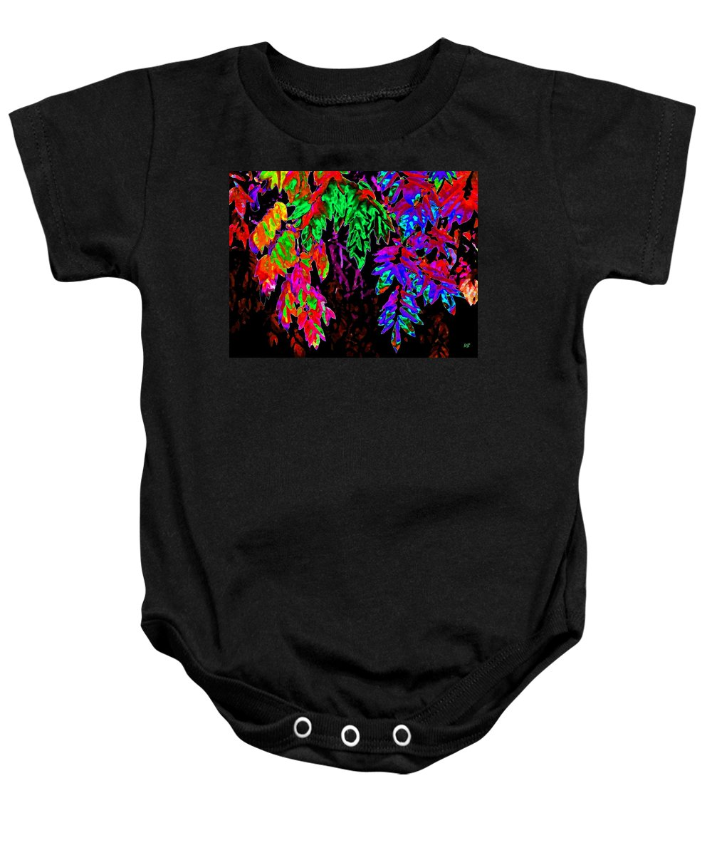 Abstract Baby Onesie featuring the digital art Abstract Wisteria by Will Borden