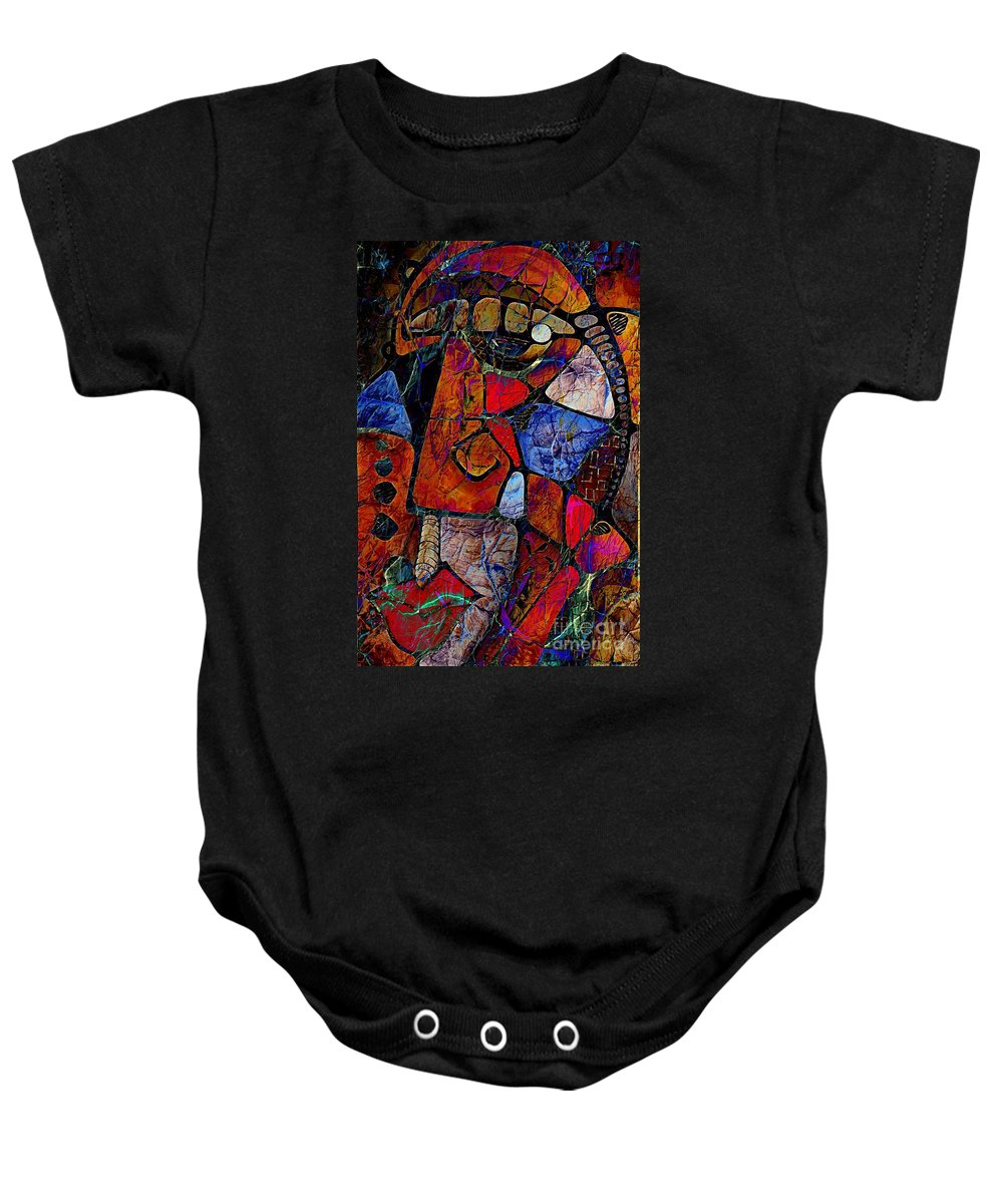 Graphic Baby Onesie featuring the digital art Abstraction 858 -marucii by Marek Lutek