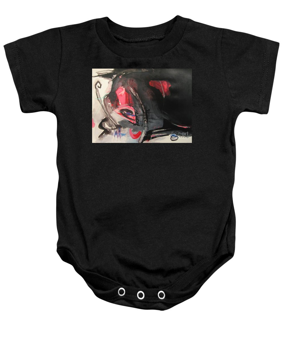 Abstract Paintings Paintings Abstract Art Paintings Baby Onesie featuring the painting Accessible To Nobody by Seon-Jeong Kim